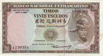 Timor 20 Escudos Regulo D. Aleixo - 1967