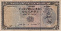 Timor 500 Escudos Regulo D. Aleixo - 1963 - P.29a F to VF