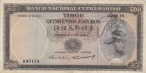 Timor 500 Escudos Regulo D. Aleixo - 1963 - P.29a VF