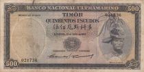 Timor 500 Escudos Regulo D. Aleixo - 1963 - P.29a3 F to VF