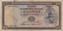 Timor 500 Escudos Régulo D. Aleixo - 1963 - P.29a3 TB +