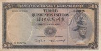 Timor 500 Escudos Regulo D. Aleixo - 1963 - P.29a6 - VF