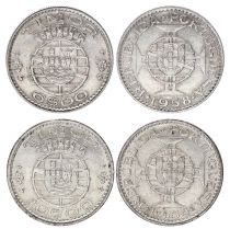 Timor Série 2 monnaies 6  et 10 dollars argent - 1958-1964