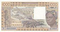 Togo 1000 Francs femme 1988 - Togo - Série Q.009