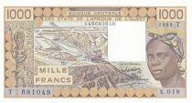 Togo 1000 Francs femme 1988 - Togo - Série X.018