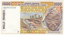 Togo 1000 Francs femme 1993 - Togo