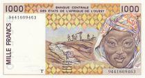 Togo 1000 Francs femme 1994 - Togo