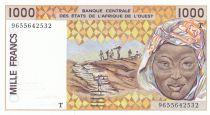 Togo 1000 Francs femme 1996 - Togo