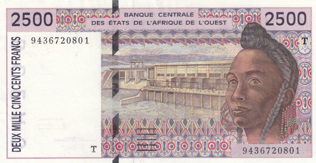 Togo 2500 Francs 1994 femme - Togo