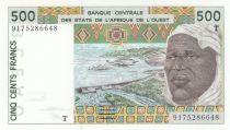 Togo 500 Francs homme 1991 - Togo