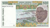 Togo 500 Francs homme 1998 - Togo
