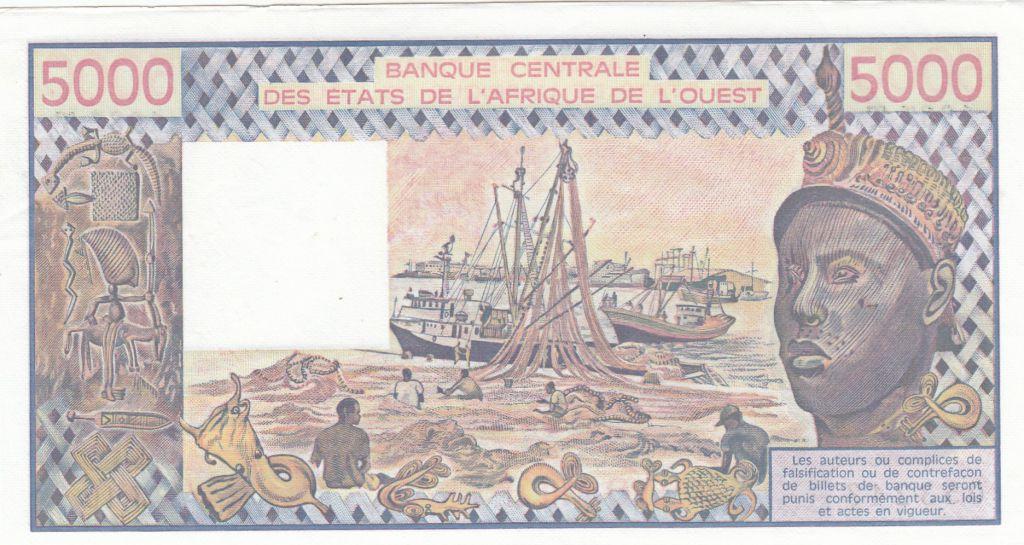 Togo 5000 Francs femme 1987 - Togo - Série J.10