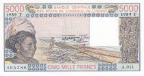 Togo 5000 Francs femme 1989 - Togo - Série A.011