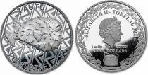 Tokelau 5 Dollars Elizabeth II -  Porcupine Fish - 2021 Oz Silver