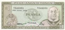 Tonga 1 Pa Anga 1982 - Roi Taufa \'Ahau - Mer - Palmiers