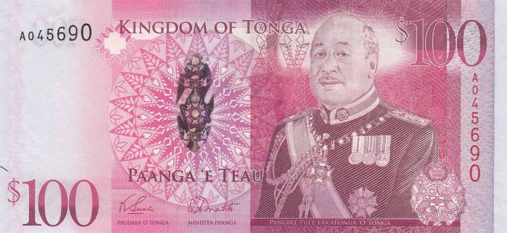 Tonga 100 Pa Anga - Roi Tupou V - 2008 - 2014