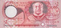Tonga 2 Pa Anga -  King Taufa Ahau - Tapa cloth - 1995