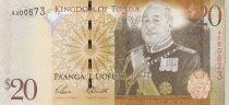 Tonga 20 Pa Anga - Roi Tupou V - 2008 - 2014