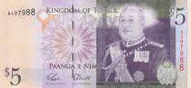 Tonga 5 Pa Anga - King Tupou V - 2008 - UNC - P.37