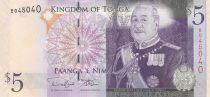 Tonga 5 Pa Anga - King Tupou V - Langi - 2010 - UNC - P.39b