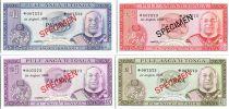 Tonga Collector series  1 - 2 - 5 - 10 pa\'anga  - 1978 Specimen