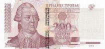 Transnistria 200 Roubles 2004 - Peter Rumyantsev, 1757 battle scene