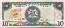 Trinidad and Tobago 10 Dollars Birds - Arms 2002