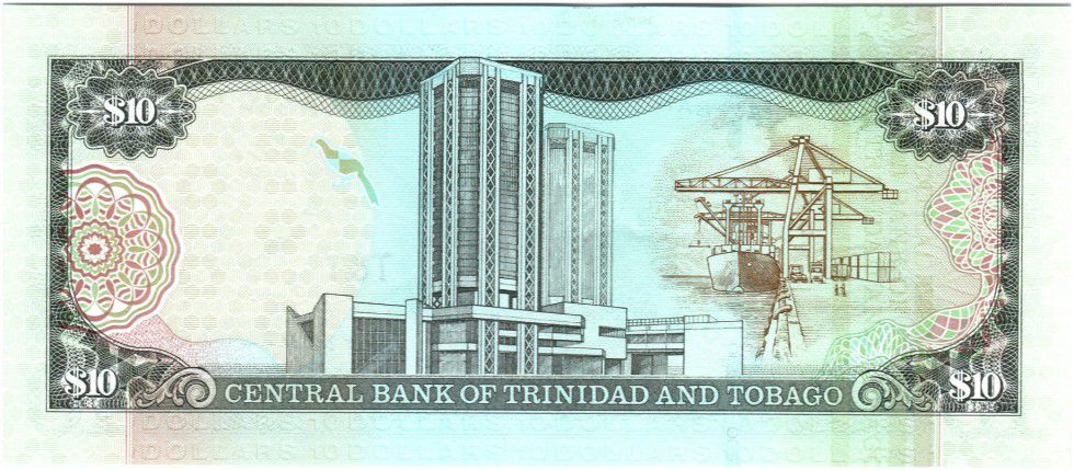 Trinidad and Tobago 10 Dollars Birds - Arms 2002