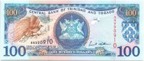 Trinidad and Tobago 100 Dollars Birds - Oil rig 2002