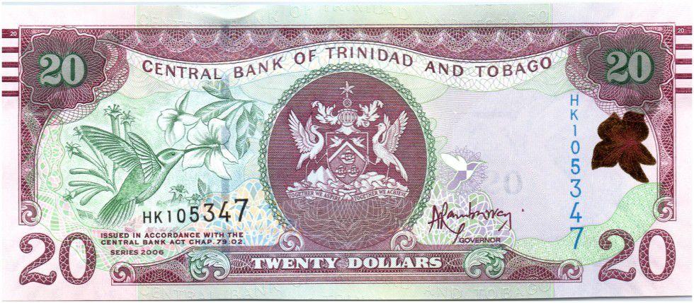 Trinidad and Tobago 20 Dollars Birds - Bdlg, market - 2015