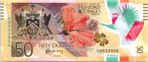Trinidad and Tobago 50 Dollars Bird - 50 Years of Central Bank - Polymer - 2015