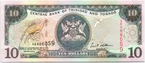 Trinidad e Tobago 10 Dollars Birds - Arms 2002