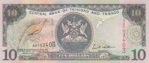 Trinidad et Tobago 10 Dollars Oiseaux - Armoiries 2002