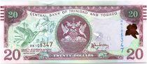 Trinidad et Tobago 20 Dollars Oiseaux - Immeuble 2015