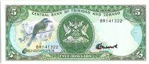 Trinidad et Tobago 5 Dollars, Oiseaux - Immeuble - 1985 - Neuf  - P.37 c