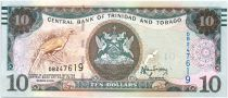 Trinidad y Tobago 10 Dollars Bird - Harbor - 2015