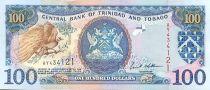 Trinidad y Tobago 100 Dollars Birds - Oil rig 2002