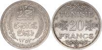 Tunisia  20 francs Ahmad Pasha - 1935 (1353) Essai