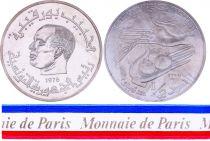 Tunisia 1/2 Dinar- 1976 - Test strike - Habib Bourguiba - Tunisia