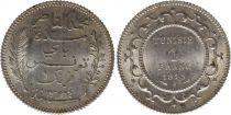 Tunisia 1 franc Bey Mohamed El-Naceur 1915 (1333)