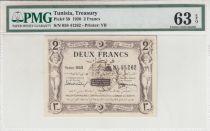Tunisia 2 Francs Regence de Tunis - 1920 - PMG 63 EPQ