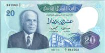 Tunisia 20 Dinars - Habib Bouguiba - Harbor - 1983