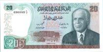 Tunisia 20 Dinars - Habib Bouguiba - Port - 1980