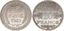Tunisie  20 francs Ahmad Pasha - 1935 (1353) Essai