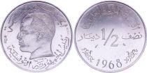 Tunisie 1/2 Dinar - 1968 - Essai - Habib Bourguiba - Tunisie