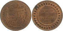 Tunisie 5 Centimes Muhammad Al Nasir - 1907