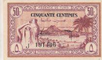 Tunisie 50 Centimes - Régence de Tunis - 15.07.1943 - Série J