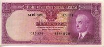 Turkey 1 Lira Pres. L. Inonu - Bophorus straits