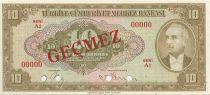 Turkey 10 Lira Pres. L. Inonu - 1948