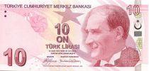 Turkey 10 Yeni Turk Lirasi Turk Lirasi, Pdt Ataturk - Cahit Arf